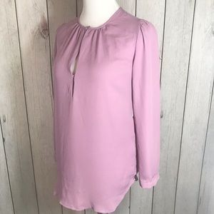 Collective Concepts Sz XS Keyhole Gathered Blouse